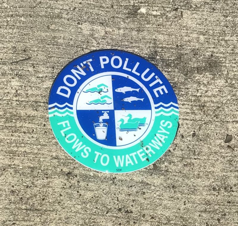 Don't pollute water storm drain